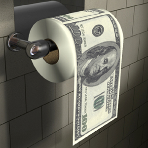 money-toilet-paper-roll