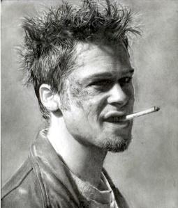 Brad Pitt Smoking